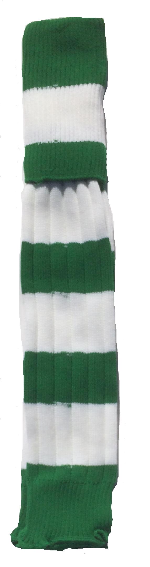 WAW Stutzen geringelt grün-weiß
